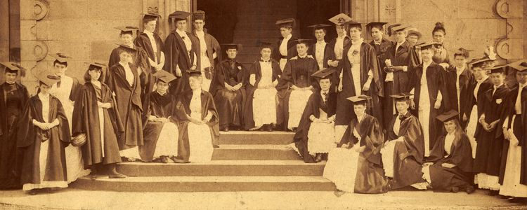 A group of University of St Andrews women graduates in 1896